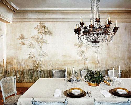 барельефы и фрески на стенах, настенные покрытия