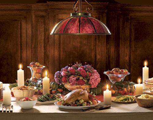 декор праздничного стола, день благодарения, индейка