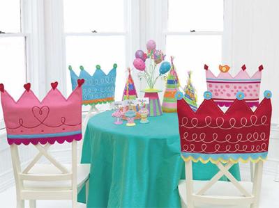 праздничные чехлы для стульев, день рождения, birthday