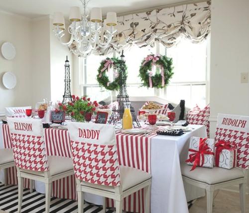 christmas chair covers, новогодние чехлы для стульев, именные