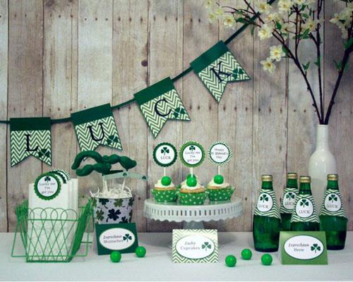 украшения дома, святой патрик, зеленый цвет, трилистник