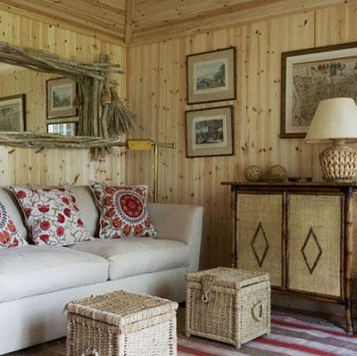 деревянная оббивка стен, настенные покрытия