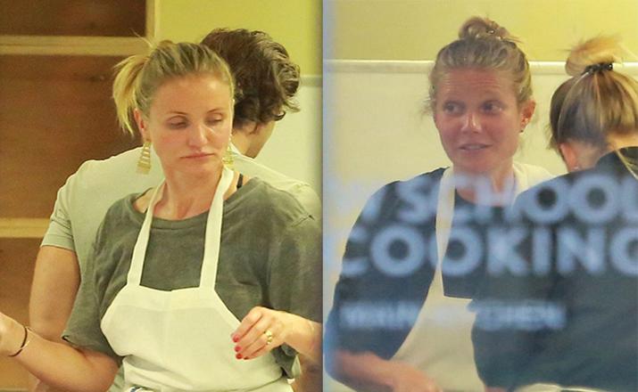 Камерон Диас на кулинарном мастер-классе