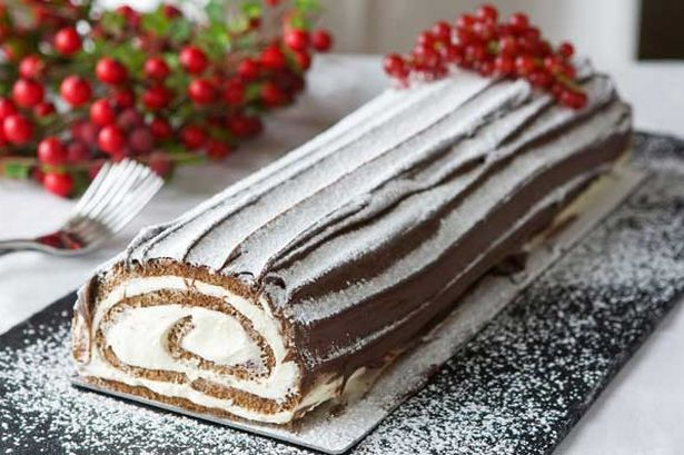 торт рождественское полено