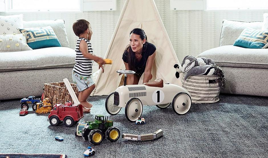 Люси Лью показала детскую комнату сына
