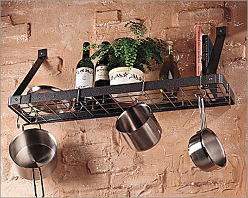 настенная полка-держатель для сковородок, pot rack
